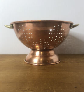Vintage Copper And Stainless Steel Colander
