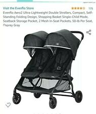 New Listingvenflo Aero2 Ultra-Lightweight Double Stroller, Compact, Self-Standing.