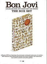 BON JOVI Box Set UK magazine ADVERT/Poster/clipping 11x8 inches