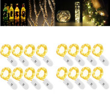 16 PCS 20 Micro Starry LED Copper Wire String Lights Battery Operated Warm White
