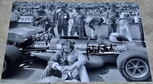 """Sir Jackie Stewart Signed 12"""" x 8"""" Photo F1 Racing With COA Goodwood #3"""