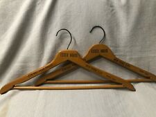 (2) 1950s Essex House Wooden Advertising Hanger Central Park South New York City