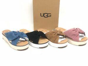 UGG Australia Women's Joan II Platform Slides Sandals Bow 1099803 Suede