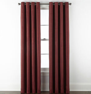 Jcp Home Malone Grommet Panel 50 W x 108 L Palmetto Red