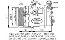 NRF Compresor, aire acondicionado OPEL ASTRA ZAFIRA VAUXHALL CORSA 32172