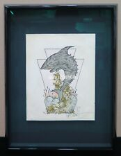 Metallica Pushead Original Work 1988 Signed Professionally Framed Not A Print