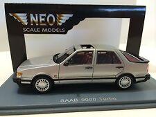 Neo Scale Models 1/43 Saab 9000 Turbo Silver1985 Art. Neo43660