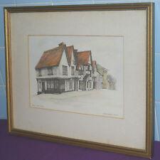 Rara Vintage limitada firmada impresión de 250 Anne Mccormack Sun Inn Saffron Walden