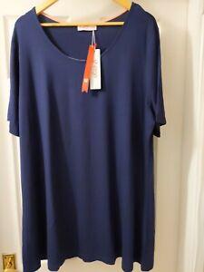Sheego Mousseline Robe Maxi Taille 40 à 50 doux descendant a motif NEUF 036