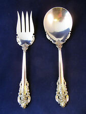 Wallace Grand Grande Baroque Sterling Silver Large Salad Berry Serving Set