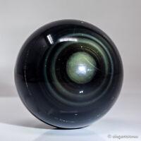 358g 66mm Natural Rainbow Obsidian Quartz Crystal Sphere Healing Ball Chakra