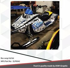 SLED WRAP DECAL STICKER GRAPHICS KIT FOR SKI-DOO REV MXZ  03-07 ELP0042