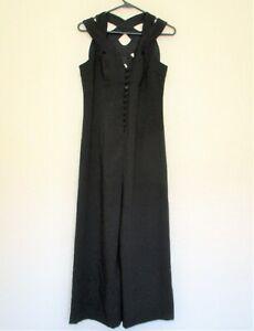 NWT HD In Paris Anthropologie Jumpsuit Size 2 Women black lattice back