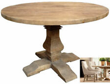 RIHANNA FARMHOUSE SOLID OAK ROUND DINING TABLE. PEDESTAL. BRAND NEW IN!!