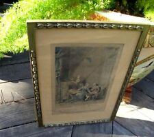 L'Occupation Is Love a Present? Antique Framed 1800's French Print Illustration