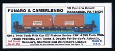Funaro F&C 6912 MILK CAR Twin Tank 52' NATIONAL Flatcar  BORDENS ABBOTTS Renkens
