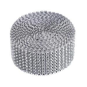 8 Row 5 Yard Acrylic Rhinestone Diamond Ribbon for Wedding Cakes Arts and Craft