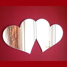 Pair of Love Hearts Acrylic Mirror (Several Sizes available)