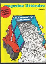 MAGAZINE LITTERAIRE N°57 1971 Bernanos aragon amos oz goytisolo agnon