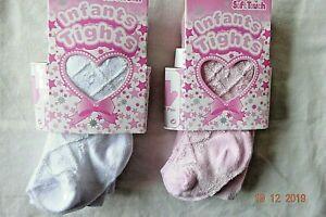 Baby Girl Infant Diamond Design Tights White,Pink,Cream NB-24 Months Cotton Rich