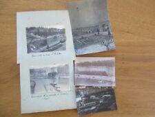 LOT X5 PHOTOS LYON 1909 PENICHE REMORQUEUR GRUE A SABLE QUAI ST ANTOINE