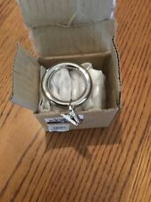 Pottery Barn standard Clip Rings Polished Nickel/s 7 small