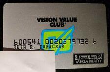 Vision Value Club charge cardâ—‡free shipâ—‡cc1846