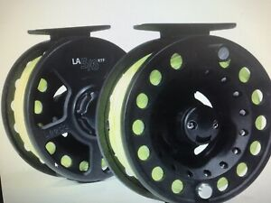 FLY FISHING REEL LEEDA PRE LOADED WITH LINE + LEADER READY TO FISH X 1 5/6 RTF