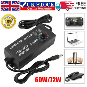 3V-24V Adjustable AC/DC Electrical Power Supply Adapter Charger Variable Voltage