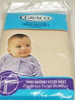 Graco Pack N Play Playard TWINS BASSINET fitted sheet ,cream color, new old stoc