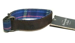 ABERCROMBIE & FITCH FABRIC LEATHER BRACELET