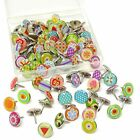Honbay 100PCS Creative Thumb Tacks Decorative Push Pins Office Product