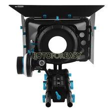 FOTGA Matte Box+DSLR Follow Focus A/B Hard Stops+15mm Rail Rod Baseplate Rig Kit