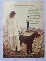 1970 Magazine Advertisement Page For Sears White Coat Woman Dog Vintage Ad