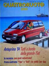 Quattroruote 441 1992 Citroen ZX 1.4. Ecco la grande Fiat. Tipo e Golf Q.41