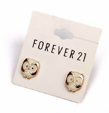 E561 Forever 21 King of Night Guardian Marble Stone Owl Owlet Earrings  US