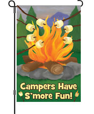 Campers Have Smore Fun Camping Garden Flag Campfire Roasting Marshmallows Premie