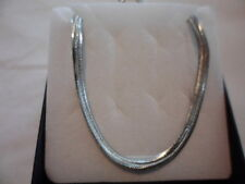 Stainless Steel Flat Snake Chain - 22 inches, 6mm, 16 grams