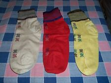 g. Three Pairs Vintage Socks  Appear Unused Look to be About 9 1/2 Unusual