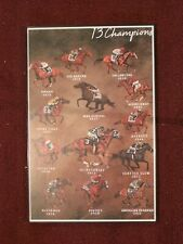 2018 - 13 Triple Crown Champions poster in MINT Condition - UNFRAMED