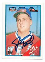 JIM POOLE 1988 TOPPS TRADED AUTOGRAPHED SIGNED # 88T DODGERS USA OLYMPICS