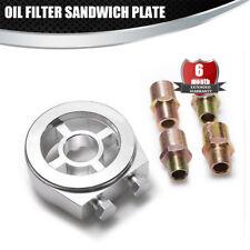 Oil Filter Sandwich Plate Adapter Oil Cooler fit M20*1.5(1PCS),3/4-16 UNF(1PCS)