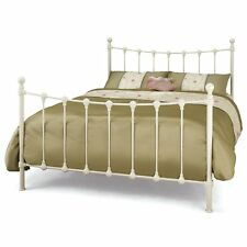 Marseilles Metal Bed Ivory 4FT6 Double - French Style