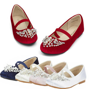 Kids Girls Flat Shoes Casual Mary Jane Shoes Princess Party Wedding Shoes Size
