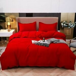 Nordic Double Color Bedding Set Single Queen King Duver Cover Set Bed Pillowcase