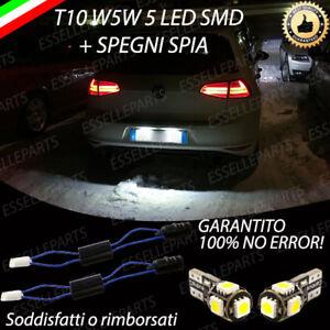 LUCI TARGA 5 LED VW GOLF VII 7 T10 RESTYLING  2017 + SPEGNI SPIA CANBUS 6000K