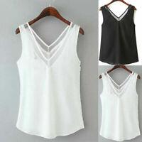 Blouse Ladies Plus Size Tanks Camisole Simple Women Tops Vest V Neck Summer