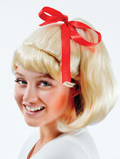 Adult Ladies Sandy 50s Olivia Newton John Wig High School Fancy Dress Musical