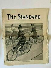 The Standard 1895 Newspaper NYC Arts , Bicycles , Many Women on Bike Images