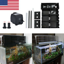 Aquarium Filter Trickle Filter External Upper Fish Tank Drop Box With Water Pump